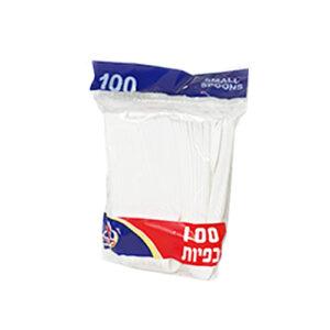 100 כפיות פלסטיק