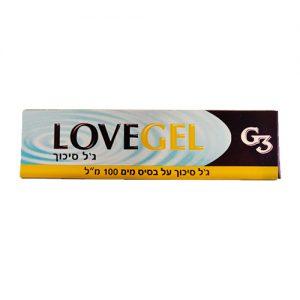 """ג'ל סיכוך 100 מ""""ל LOVE GEL"""