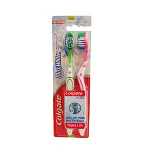 קולגט מברשת שיניים מקס וויט מדיום זוג
