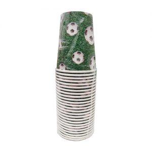 כוסות נייר 25 יח' 9oz כדורגל