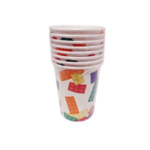 כוסות נייר 8 יח' 9oz לגו