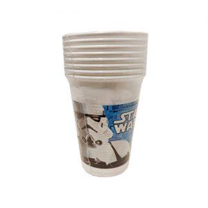 כוסות פלסטיק 8 יח' STAR WARS