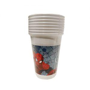 כוסות פלסטיק 8 יח' ספיידרמן