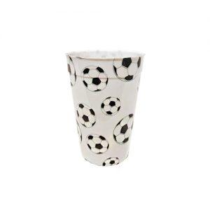 כוסות פלסטיק קשיח כדורגל 1 יח'