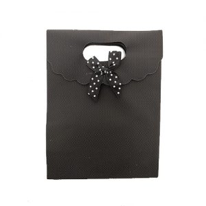 אריזת מתנה איכותית 12X16 עם קישוט סגורה שחור 12 יח'