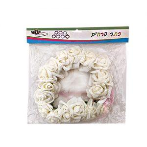 כתר פרחים יום הולדת לבן