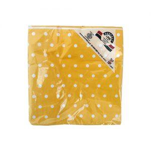 מפיות אירוח דו שכבתיות 50 יח' צהוב נקודות