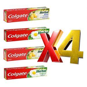4 יח' משחת שיניים קולגייט הרבל