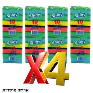4 יח' ספוג קרצוף (סקוטש עם ספוג) עשירייה אריזה מוסדית