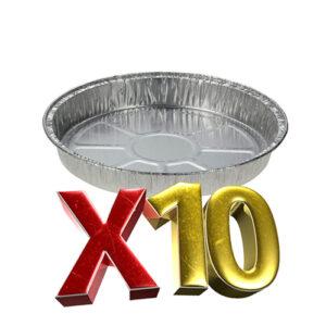 10 יח' תבניות אלומניום עגול נמוך (C10) אופל