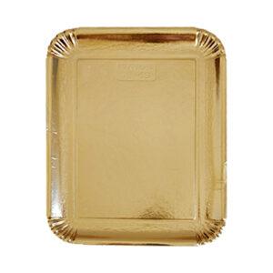 """מגש נייר בציפוי זהב 35X27 ס""""מ"""