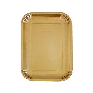 """מגש נייר בציפוי זהב 30X21 ס""""מ"""