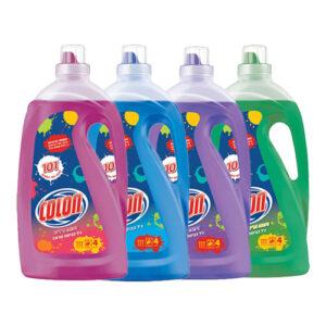 """4 בקבוקי ג'ל כביסה קולון בניחוחות שונים 4 ליטר סה""""כ 16 ליטר"""